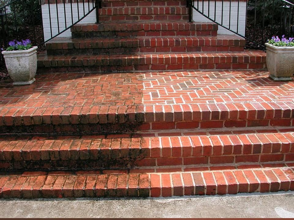 Power washing bricks North Little Rock Arkansas